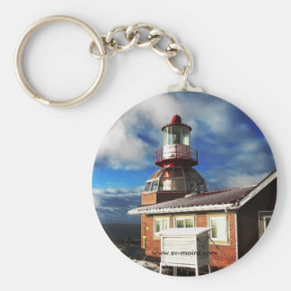 Cape Horn Lighthouse, Chile (Larger image) Basic Round Button Keychain