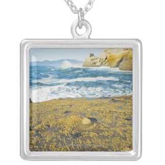 Cape Kiwanda And The Pacific Ocean Silver Plated Necklace