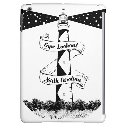 Cape Lookout Lighthouse Black and White Case For iPad Air