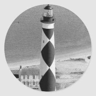 Cape Lookout Lighthouse Classic Round Sticker