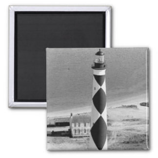 Cape Lookout Lighthouse 2 Inch Square Magnet