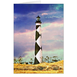 Cape Lookout Lighthouse Photo Blank Greeting Card