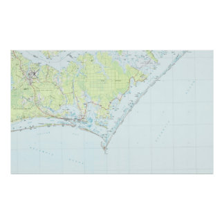 Cape Lookout National Seashore & Morehead City Map Poster