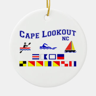 Cape Lookout NC Signal Flag Christmas Tree Ornaments