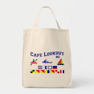 Cape Lookout NC Signal Flag Tote Bag