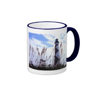 Cape Lookout Through the Sea Oats Ringer Coffee Mug