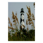 Cape Lookout through the Sea Oats Poster