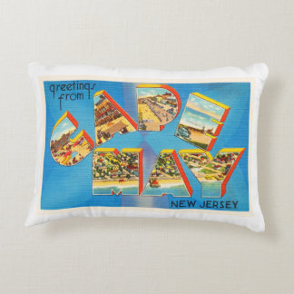 Cape May #2 New Jersey NJ Vintage Travel Postcard- Accent Pillow