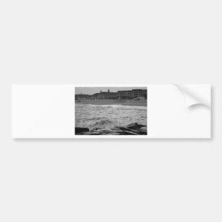 Cape May Beach in B&W Bumper Sticker