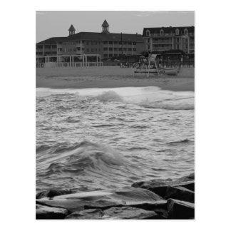 Cape May Beach in B&W Postcard