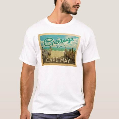 Cape May Beach Vintage Travel T-Shirt