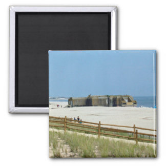 Cape May Bunker 2 Inch Square Magnet