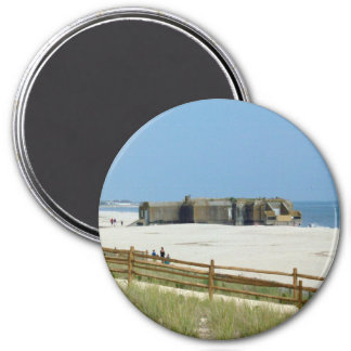 Cape May Bunker 3 Inch Round Magnet
