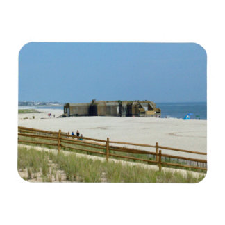 Cape May Bunker Rectangular Photo Magnet