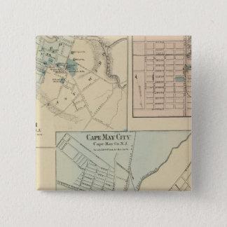 Cape May City, Salem, Vineland, Millville Pinback Button