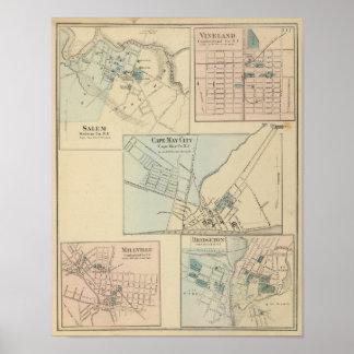Cape May City, Salem, Vineland, Millville Poster
