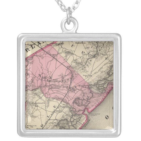 Cape May County, NJ Silver Plated Necklace