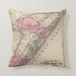Cape May County, NJ Throw Pillow