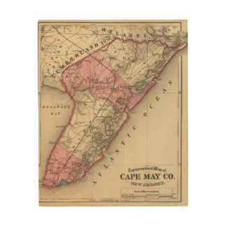 Cape May County, NJ Wood Wall Art