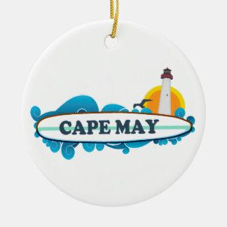 Cape May. Adorno Redondo De Cerámica