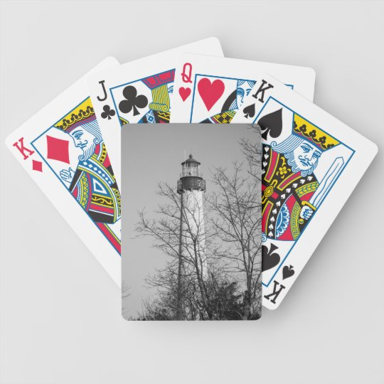 Cape May Light b/w Bicycle Playing Cards