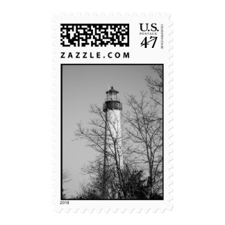 Cape May Light b/w Postage