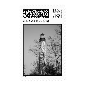 Cape May Light b/w Stamps