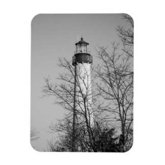 Cape May Light b/w Magnets