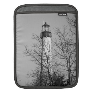 Cape May Light b/w Sleeve For iPads