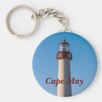 Cape May Light Basic Round Button Keychain