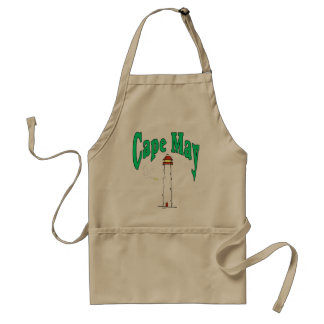 Cape May Lighthouse Cartoon Adult Apron