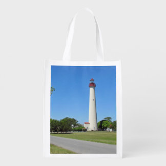 Cape May Lighthouse Grocery Bags