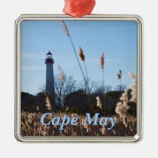 Cape May lighthouse Metal Ornament