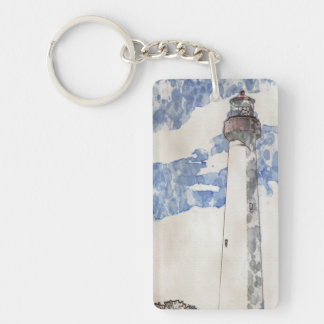Cape May Lighthouse, painting Keychain