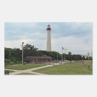 Cape May Lighthouse Rectangular Sticker
