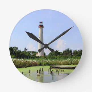 Cape May Lighthouse Round Clock