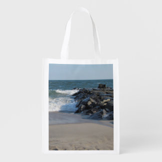Cape May Lighthouse & Shoreline Reusable Grocery Bags