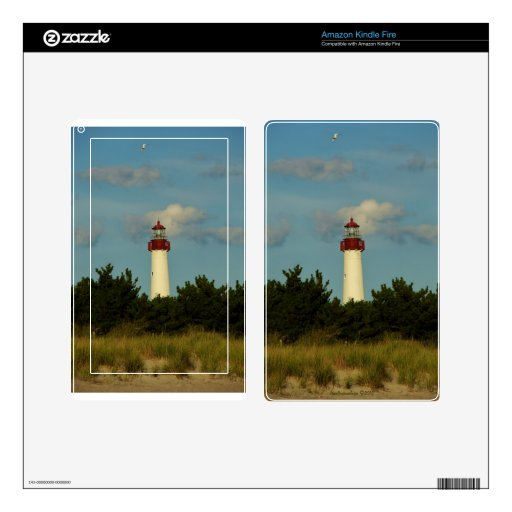 Cape May Lighthouse skin Decal For Kindle Fire