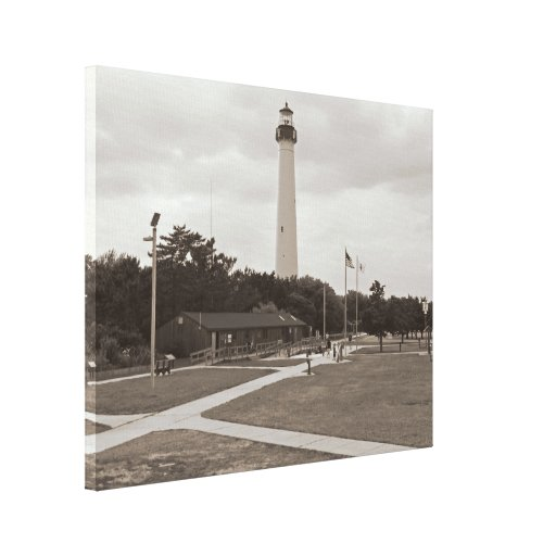 Cape May Lighthouse Stretched Canvas Print