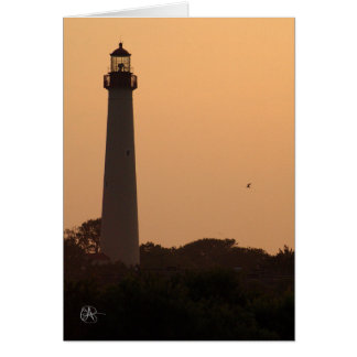 Cape May Lighthouse, Sunset Card