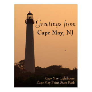 Cape May Lighthouse, Sunset Postcard