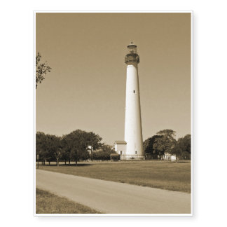 Cape May Lighthouse Temporary Tattoos