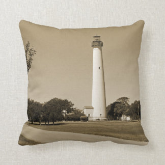 Cape May Lighthouse Throw Pillow
