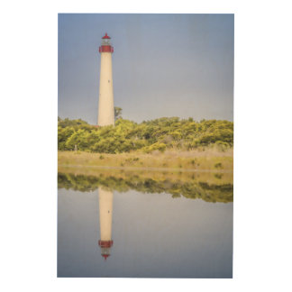 Cape May Lighthouse Wood Wall Art