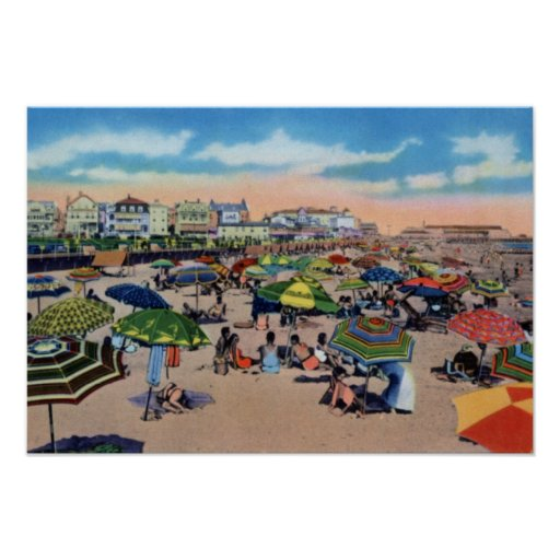 Cape May New Jersey At the Beach Print