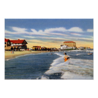 Cape May New Jersey Beach Scene Poster