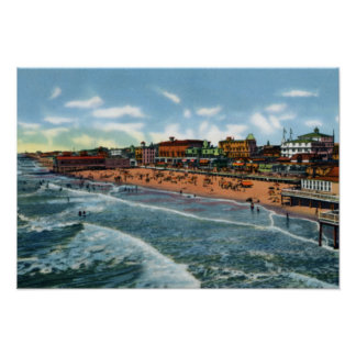 Cape May New Jersey Birdseye View Poster