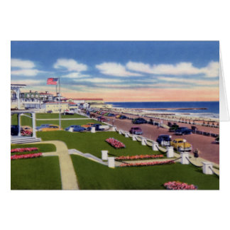 Cape May New Jersey Boardwalk and Hotels Greeting Card