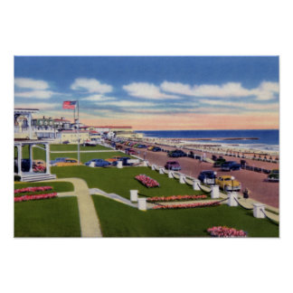Cape May New Jersey Boardwalk and Hotels Poster