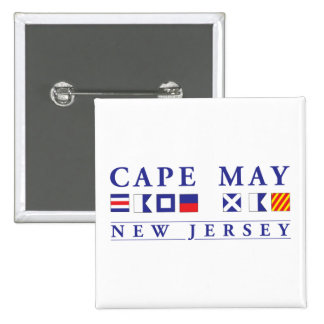 Cape May New Jersey Pinback Buttons